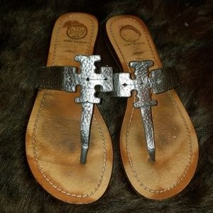 Tory Burch Moore Graphite Sandals, Size 8M
